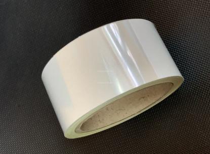 Лента светоотражающая самоклеющаяся Белая, рулон 10 п.м. фото