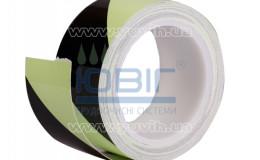 Маркировочная лента для пола Черно-белая, рулон 10 п.м. фото