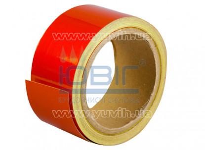 Светоотражающая лента Красная, рулон 10 п.м. фото
