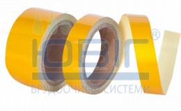 Светоотражающая лента Желтая, рулон 10 п.м. фото