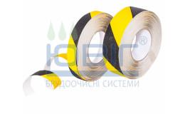 Предупреждающая лента Черно-желтая Heskins пог.м. фото