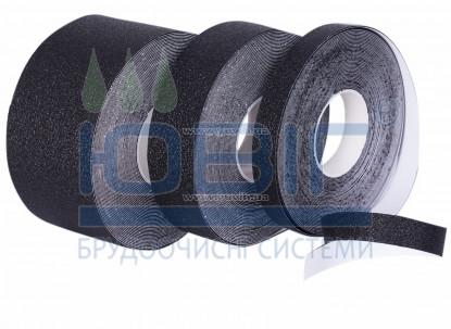 Антискользящая лента Heskins упругая, черная. Рулон 18.3 п. м. фото
