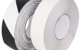 Фотолюминесцентная лента, антискользящая, стандартная зернистость, черно-белая, рулон 18.3 м. фото