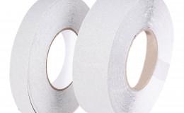 Фотолюминесцентная лента, антискользящая, стандартная зернистость, Белая, рулон 18.3 м. фото