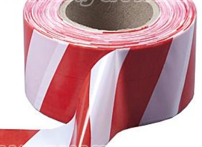 Лента оградительная красно-белая 200 м. фото