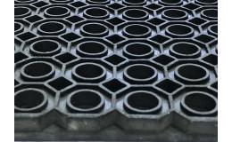 Резиновый коврик уличный 100х100х1,3 см Индия фото