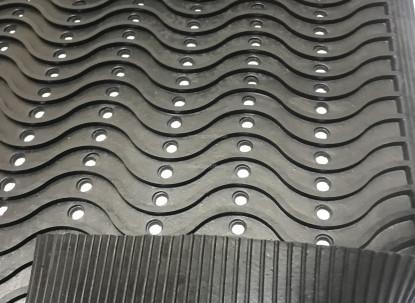 Резиновый коврик Волна 90х150х1,0 см. фото